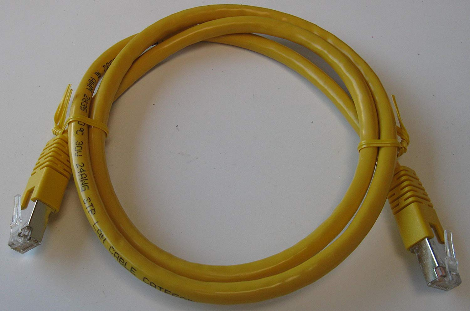 hight resolution of get quotations 5 cables of 1 meter 3 25ft cat6 550mhz shielded copper wire ethernet network