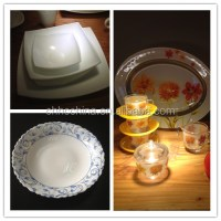 Colored Clear Glass Tempered Dinnerware Colored Glass ...
