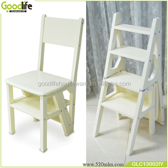 library chair ladder office club wooden goodlife convertible step stool buy