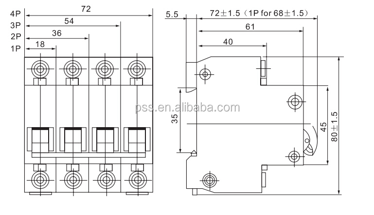 Ac Electrical Circuit Breaker,Ac Mini Circuit Breaker Mcb