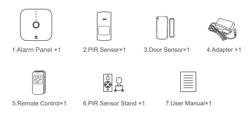 2018new Wifi Pstn Smart Home Alarm Wireless Control
