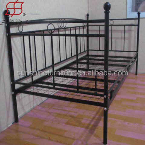 metal frame sofa bed home edge murphy double solid wood wire mesh