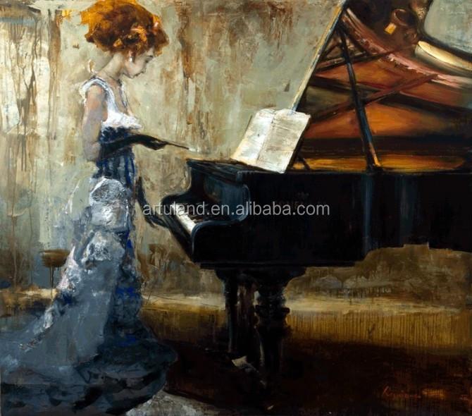 het spelen van de piano beroemde moderne abstracte canvas