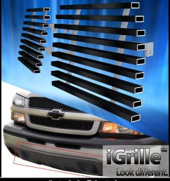 fits 2003 2006 chevy silverado 1500 2500 stainless black tow hook billet grille  [ 1000 x 1154 Pixel ]