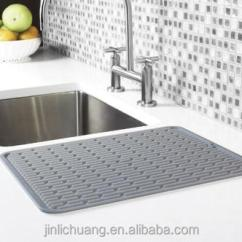Kitchen Dish Drying Mat Tables And More Extra Deep Silicone With Bonus Storage Holder Thick Structure High Ridges