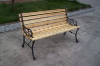 Outdoor Patio Cast Iron And Wood Garden Bench - Buy Cast ...