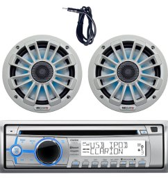 get quotations new clarion m303 marine boat yacht cd usb mp3 bluetooth stereo am fm [ 1500 x 1500 Pixel ]