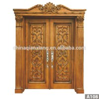 High Quality Door Antique Carved Wood Double Door Design