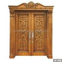 High Quality Door Antique Carved Wood Double Door Design ...