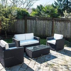 Lexmod Monterey Outdoor Wicker Rattan Sectional Sofa Set Signature Buy Brown Best 4 Pc Patio Garden Cushioned Furniture