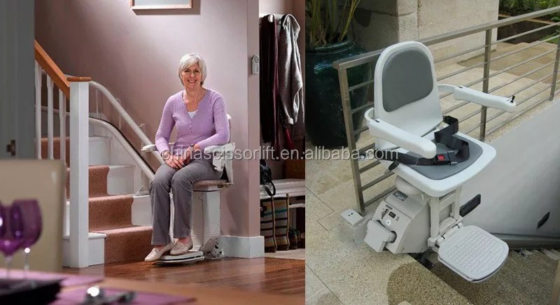 old people chair lift covers white linen stair for inclined disabled