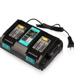 get quotations energy tech dc18rd battery charger dual ports fast charge 4a 120w for makita 7 2v  [ 1500 x 1500 Pixel ]
