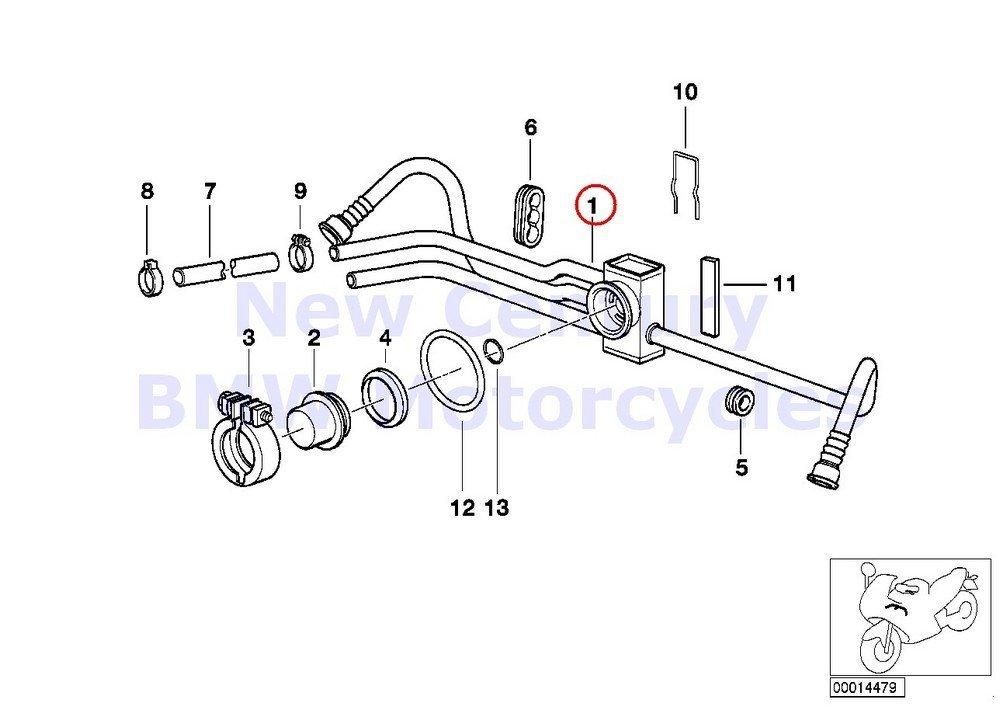 Buy BMW R1100R Fuel Gas Petrol Pump Flange 16141341231 in