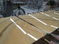 Orange Onyx Ceramic Tiles For Interior Floor Non-slip ...