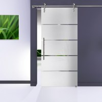 Glass Sliding Barn Door Hardware : Stainless Steel