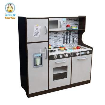 toy kitchen sets cheap cabinets for plk511 large espresso boy eco friendly wooden set