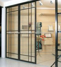 Office Pvc Sliding Glass Door Grill Design Entrance Door ...