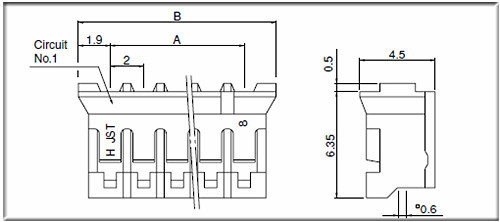 Electric Wire To Board 3 Pin 2.0mm Jst Ph Phr-3 Connector