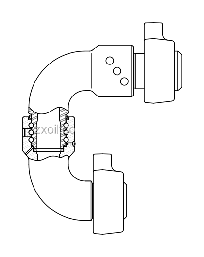 Api 4'' M-f Chiksan Swivel Joint With Fig 1502 Union
