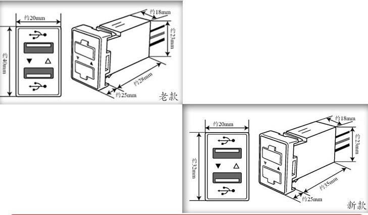 3.1a 12/24v Dual Usb Ports Dashboard Mount Car Charger