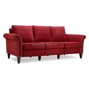 sofa frames for upholstery trundle bed uk fabric solid hardwood frame chesterfield with nailhead trim