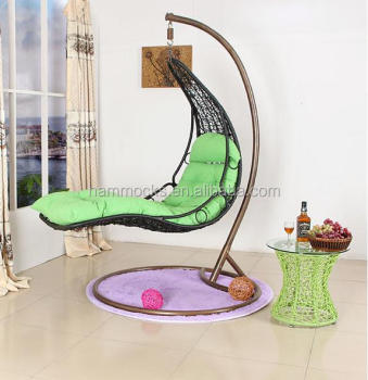 swing hammock chair with stand upholstered swivel recliner chairs outdoor rattan hanging egg for bedroom buy