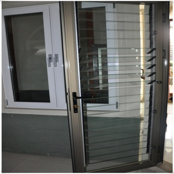 Glass Doors with Louvers