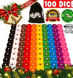 get quotations 100 dice set 10 different colors 10 dice of each color 16mm d6 [ 2560 x 2560 Pixel ]