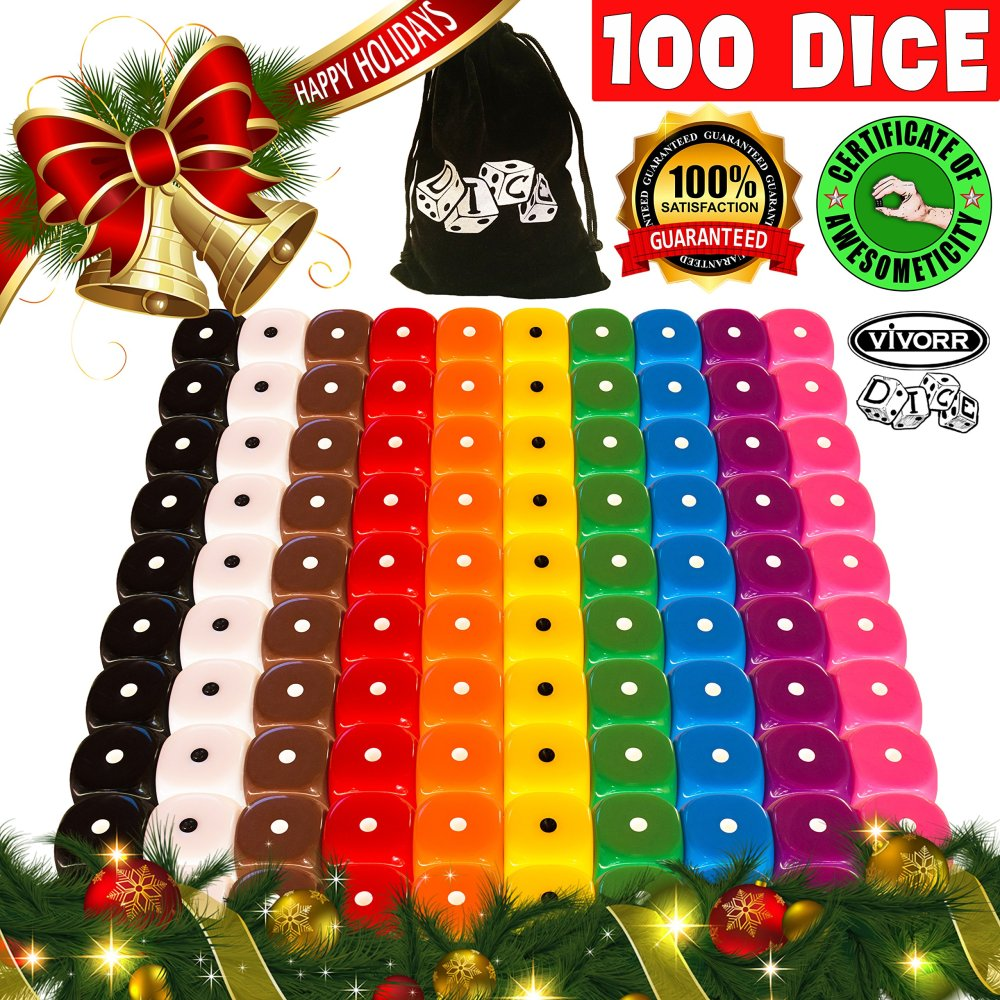 medium resolution of get quotations 100 dice set 10 different colors 10 dice of each color 16mm d6