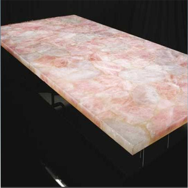 Rose Quartz Countertop Natural Stone Rose/pink Quartz Slab For Decorative