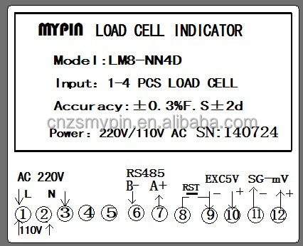MYPIN Load cell indicator with 2 relays and 4-20mA output