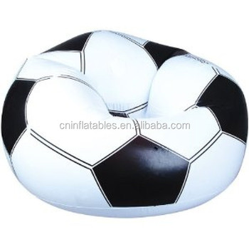 beanless sofa air chair palliser leather colors football printing inflatable buy