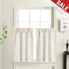 Cheap Kitchen Curtains Free Standing Sink Unit Sale Window Treatments Find Tier For Linen Textured Crude Bathroom 24 Inch Rod Pocket
