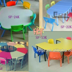 Ergonomic Furniture In The Classroom Golden Lift Chairs Model Kids Study Table For 4 Persons