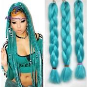 22inch expression hair braids green