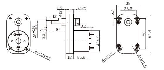 Dsd-65ss3525 65mm 12 V 24 V 12v 10rpm Dc Gear Motor For