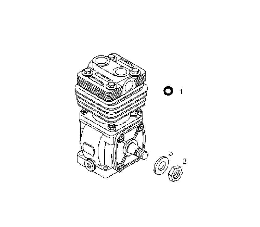 Deutz Diesel Engine Parts 913 Air Compressor 0117 3876