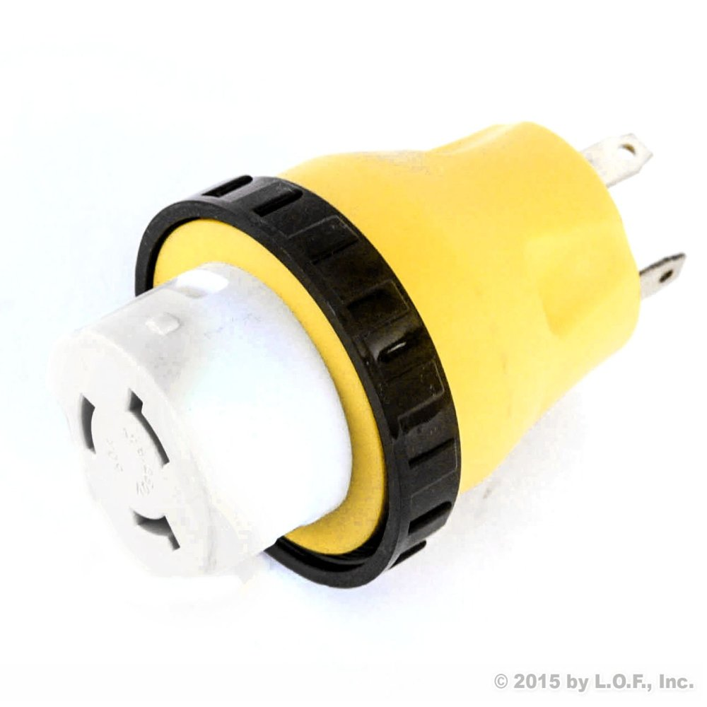 medium resolution of get quotations rv electrical locking adapter 30a male to 50a female locking plug connector