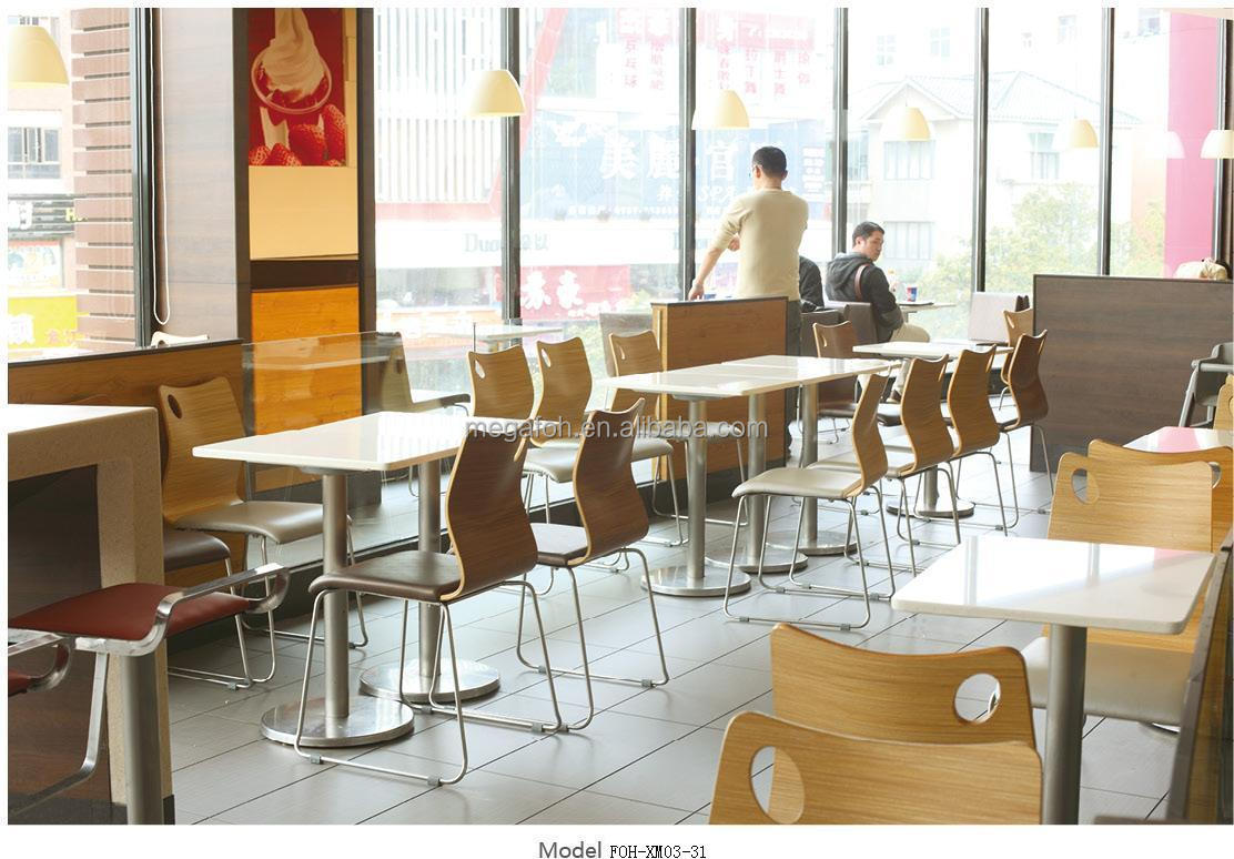 Food Chair Newest Style Modern Fast Food Restaurant Furniture Table