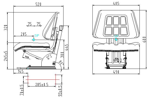 Massey Ferguson Tractor Seat With Option Armrest,Safety