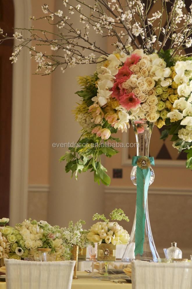 Clear Reversible Trumpet Glass VaseFlower Vase Wedding Centerpiece  Buy Reversible Trumpet