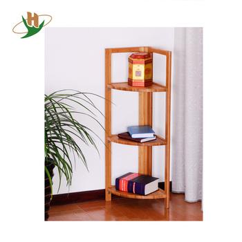 corner shelf for living room farmhouse wall decor ideas eco style 3 tiers triangle bamboo rack