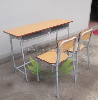 Cheap Wooden Single Student Desk And Chairs For School ...