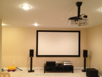 Fixed Frame Projector Screen / Wall Mount Fixed Frame ...