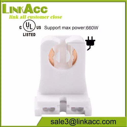small resolution of non shunted turn type t8 lamp holder tombstone medium bi pin sockets for
