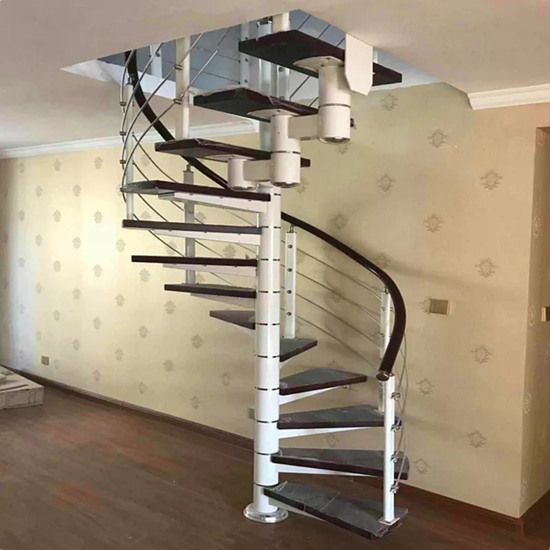 Dl Top Sale Indoor Spiral Staircase Kits Spiral Staircases Used | Used Steel Stairs For Sale | Hinged | Portable | U Shaped | Garage | 8 Foot