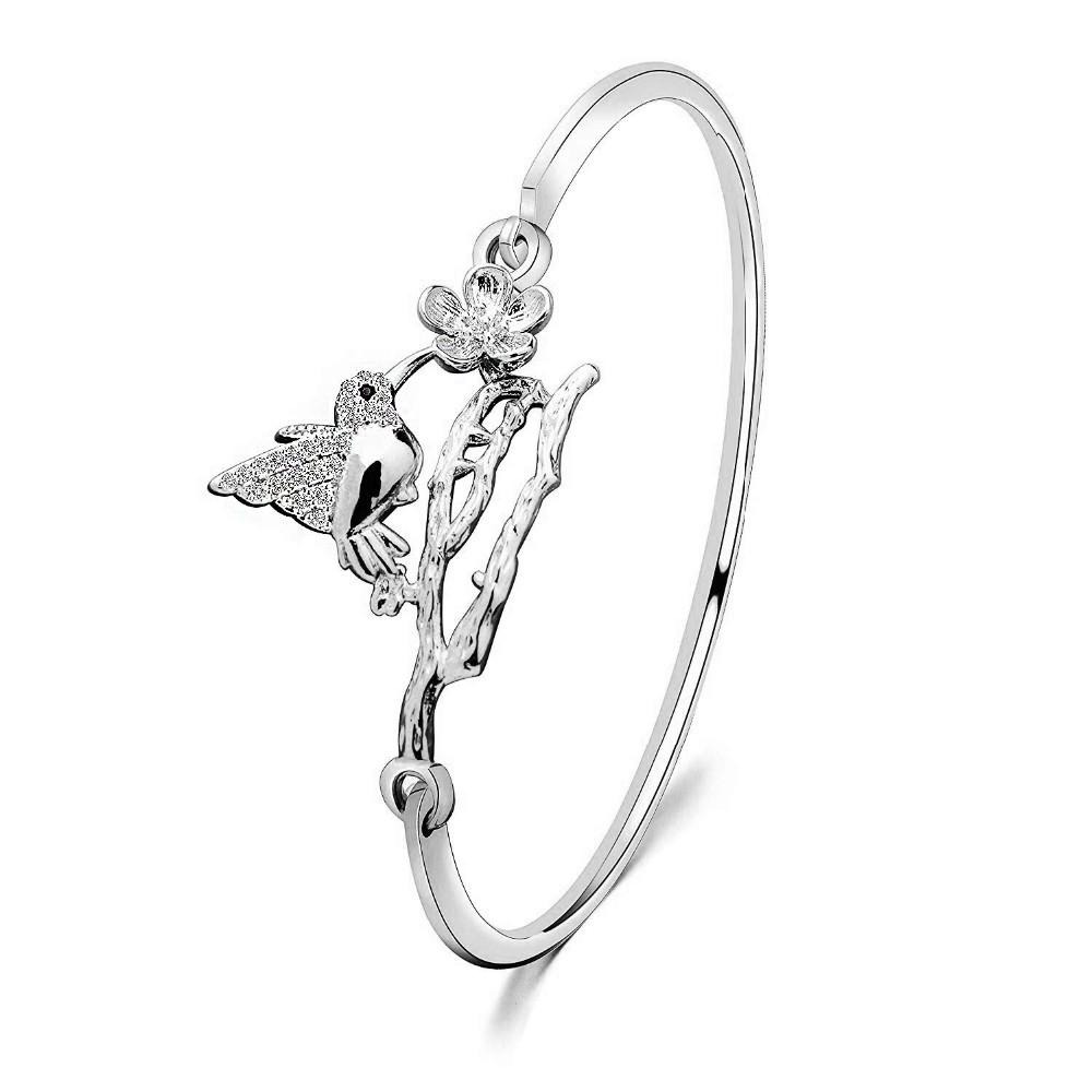 Fashionable Women Jewelry Open Hood Clasp Hummingbird