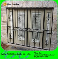 Simple Decorative Forging Craft Wrought Iron Door Window ...