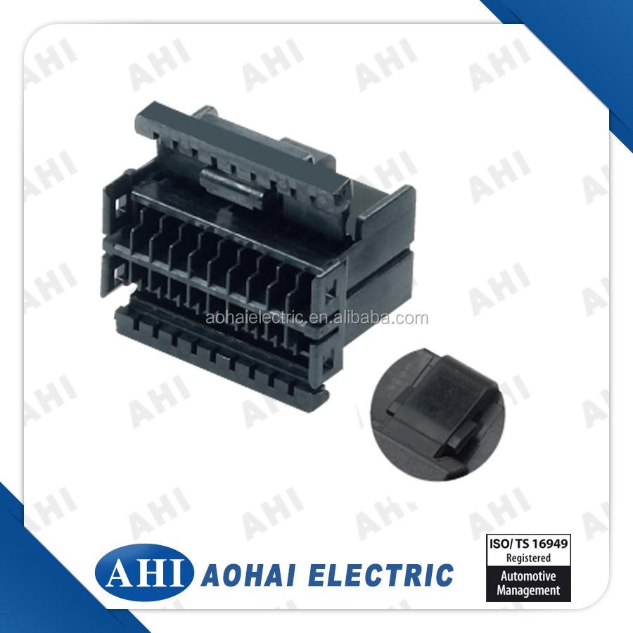 hight resolution of  174044 2 old 8 pin wire harness connector female black plastic auto connector