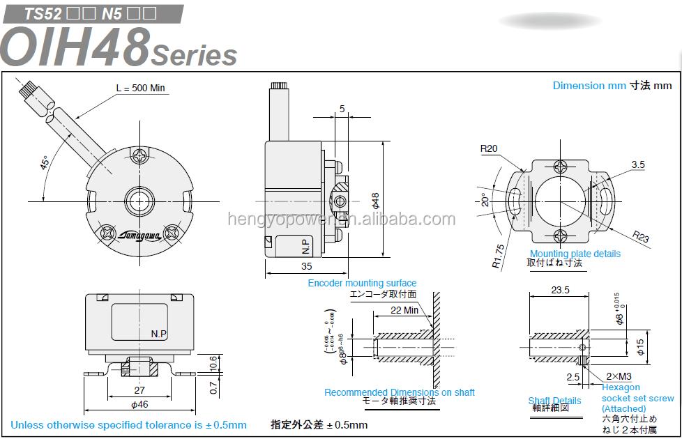 Tamagawa Encoder Rotary Encoders Ts5212n510 Oih48-2000p6